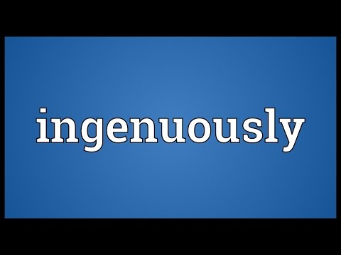 Header of ingenuously