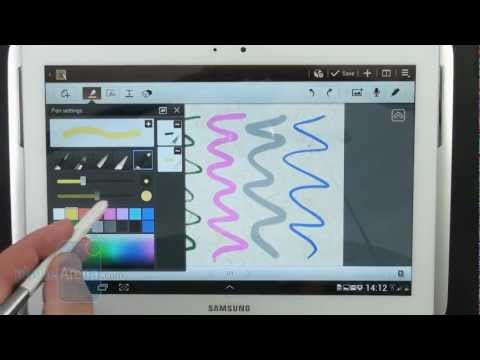 Samsung Galaxy Note 10.1: S Pen demo