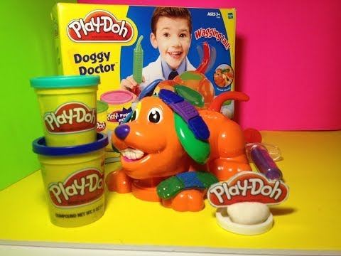Play Doh Doggy Doctor a PlayDough Vet Playset for Glittery Play-Doh Puppy Toy Fun