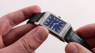 Jaeger-LeCoultre Grande Reverso Ultra Thin Duoface Bleu Boutique Q378858J Luxury Watch Review