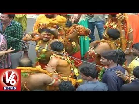 Bonalu Festival Celebrations At Golkonda Temple | Hyderabad | V6 News