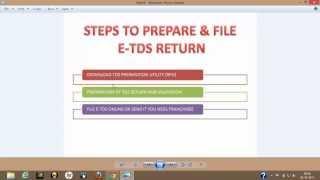 How to prepare & file E TDS Return Step 1)