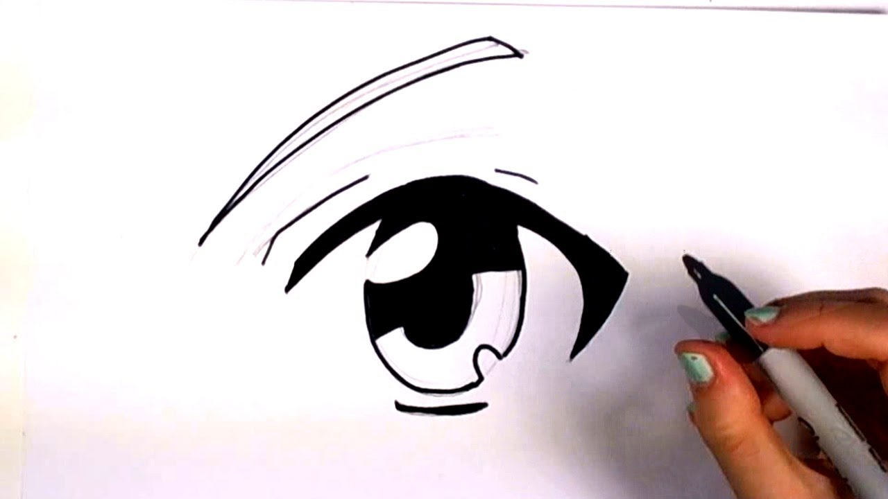 anime drawings of eyes: How To Draw An Anime Eye - Manga Eye Drawing Lesson