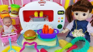 Baby Doll and Play Doh oven cooking food toys kitchen play 아기인형 플레이도우 오븐 요리 음식 주방놀이 장난감 - 토이몽