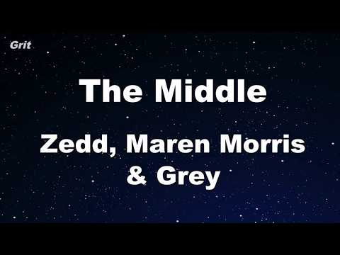 Download Lagu  The Middle - Zedd, Maren Morris, Grey Karaoke 【With Guide Melody】 Instrumental Mp3 Free