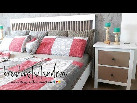 DIY - Möbel streichen | Landhausstil | Bett + Nachtkästchen