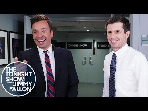 Mayor Pete Buttigieg Confronts Jimmy About His Impression (in Seven Different Languages)