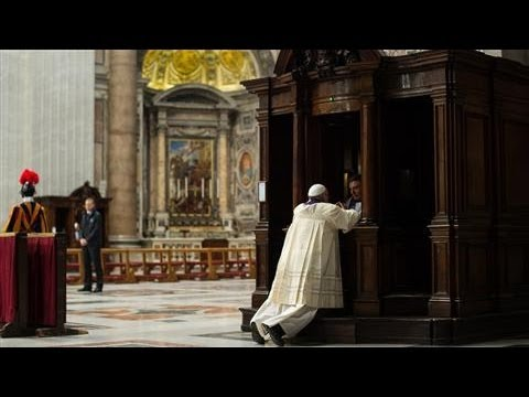 Pope Francis Takes Confession in View of Congregation