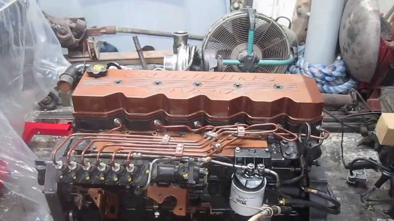 Cummins P7100 P pump 24 Valve Motor - YouTube