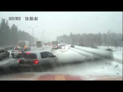 Multiple Car Pile Up on Highway