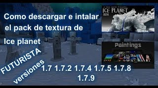 Como Descargar E instalar El Pack de textura de ICE PLANET | Minecraft