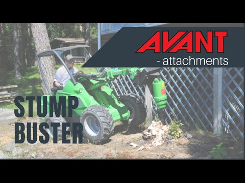 Stump Buster, Avant 300-700 Series attachment