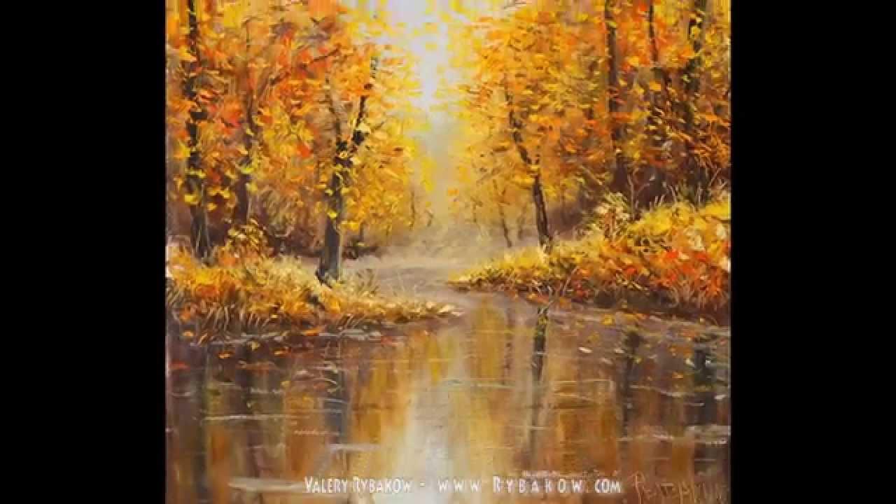 Paintings of Autumn Scenes Autumn Oil Painting Autumn on