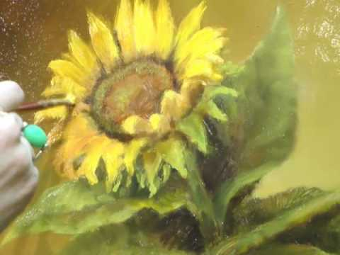 Vibrant Sunflower Oil Painting Demonstration by Lori McNee