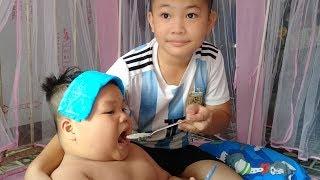 Đồ Chơi Trẻ Em Bé Pin Hai Anh Em Thương Nhau❤ PinPin TV ❤ Baby Toys Two Brother Fondly