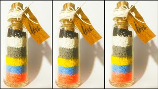 Miniature bottle decor/vintage/ bottlecraft/bottle decor idea/Home decor/Malayalam/Mamma and girls