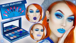 Blue Blood Palette Tutorial & Lipstick Bundle Lip Swatches | Evelina Forsell