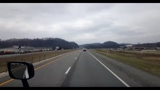 BigRigTravels LIVE! Mount Sterling, Kentucky to Teays Valley, West Virginia I-64 East-Jan. 14, 2019