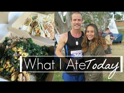 What I Ate Today as a HCLF Vegan + Half Marathon