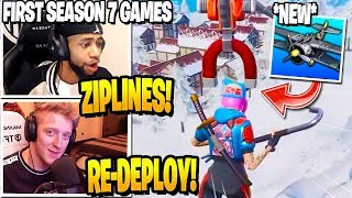 Streamers *FIRST GAME* in SEASON 7 (Tfue, Daequan & more..) Fortnite