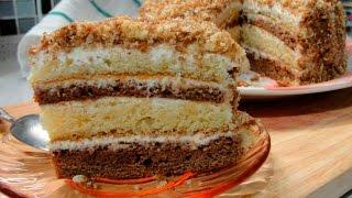 Торт сметанник - простой классический рецепт пошагово