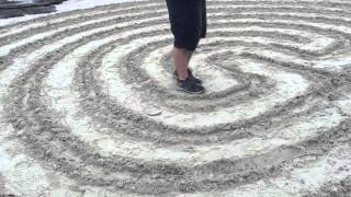 Walking meditation on a labyrinth on remote Hong Kong island