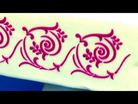 Watch How to Stencil a Cake by Chef Alan Tetreault of Global Sugar Art