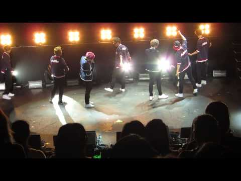 Teach Me How to Dougie+Never Give Up (Jongup [��]&Zelo [젤�]) @ B.A.P Live on Earth SF 130510