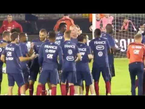 Serbie - France : Karim Benzema, Mathieu Valbuena, Antoine Griezmann
