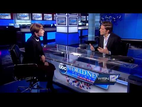 12 News Kathy Mykleby interviews ABC News Anchor David Muir