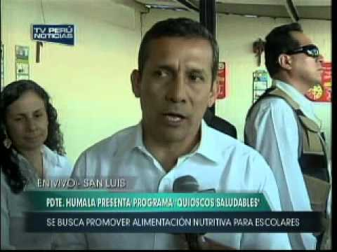 El Presidente Ollanta Humala Tasso present el Programa 