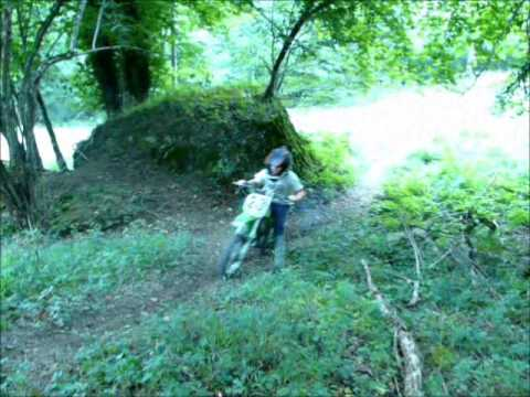 petit tour en kawasaki kx 60