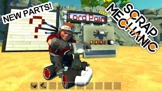 NEW PARTS & NEW GO-KART ( Scrap Mechanic Gameplay Mods )