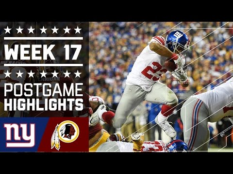 Giants Vs Redskins Nfl Week 17 Game Highlights