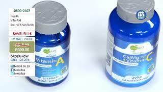 Vita-Aid™ Hair, Skin & Nails - Vitamin A, CalMg 2:1 and Collagen Capsules: 0500-0107