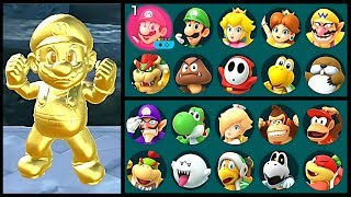 Super Mario Party Golden Drink All Characters