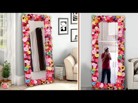 DIY Mirror Decoration || Paper Craft Idea || DIY Projects !!! - YouTube