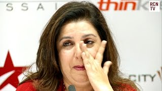 Farah Khan Cries at Shahrukh Khan Press Conference