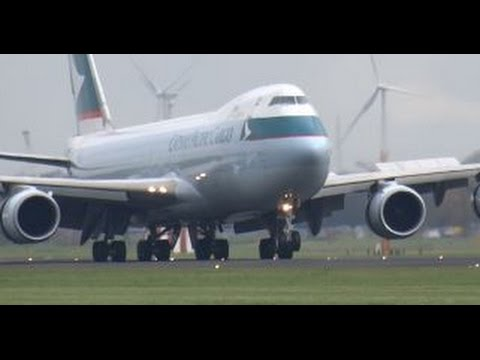 CATHAY PACIFIC CARGO Boeing 747-867F(B-LJK) landing @ Amsterdam Schiphol Airport