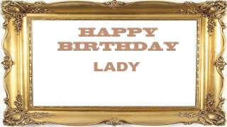 Lady   Birthday Postcards & Postales