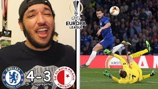 CHELSEA 4-3 SLAVIA PRAGUE REACTION | Europa League | Petr evk amp Pedro SCORE INSANE GOALS!