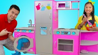 Wendy Pretend Play with Customizable Kitchen & Washer Toy Playset