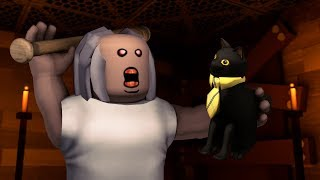 Roblox Animation - SIR MEOWS A LOT TRAPPED IN A GRANNY HORROR REMAKE!