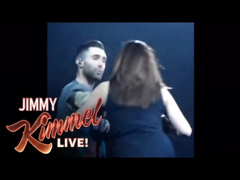 Adam Levine Accidentally Threw A Mic In A Fan's Face