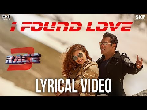 I Found Love Song with Lyrics - Race 3 | Salman Khan, Jacqueline | Vishal Mishra | Bollywood Songs thumbnail