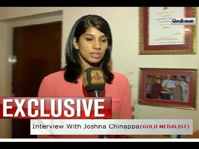 Thanthi TV Exclusive:Interview With Commonwealth Gold Medalist Joshna Chinappa