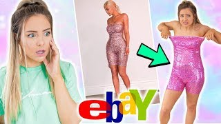 Trying On Very EXTRA Clothing From Ebay ! Success Or Disaster ?! AD