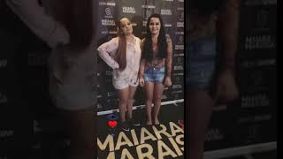 Look da Maiara e Maraisa no Show de Jurerê Internacional(maraisa de short)