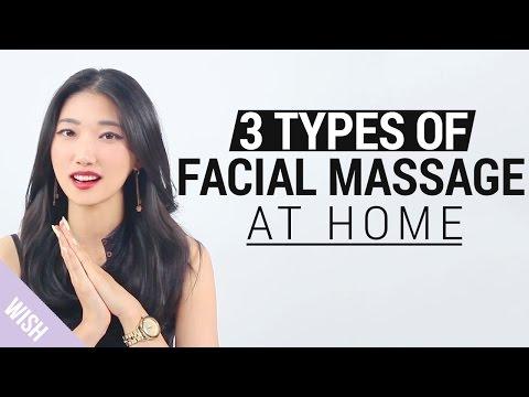 Korean V line Massage | 3 Types of Facial Massage at Home | Wishtrend TV