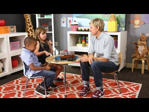 Ellen Introduces Kids to the Technology of Yesterday